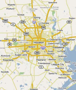 dumpster service map, Houston, Texas
